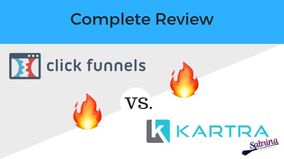 Clickfunnels review versus Kartra