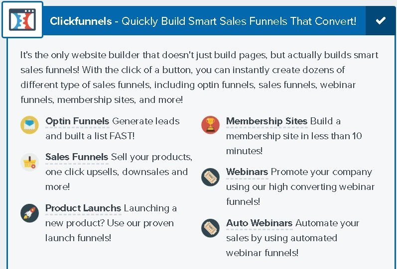 Clickfunnels features for $97