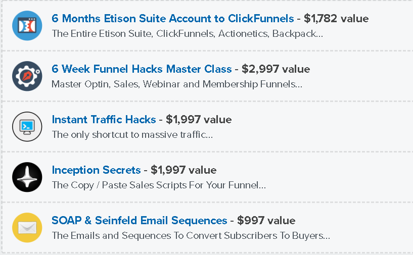 Funnel Hacks -  Clickfunnels - Special Offer