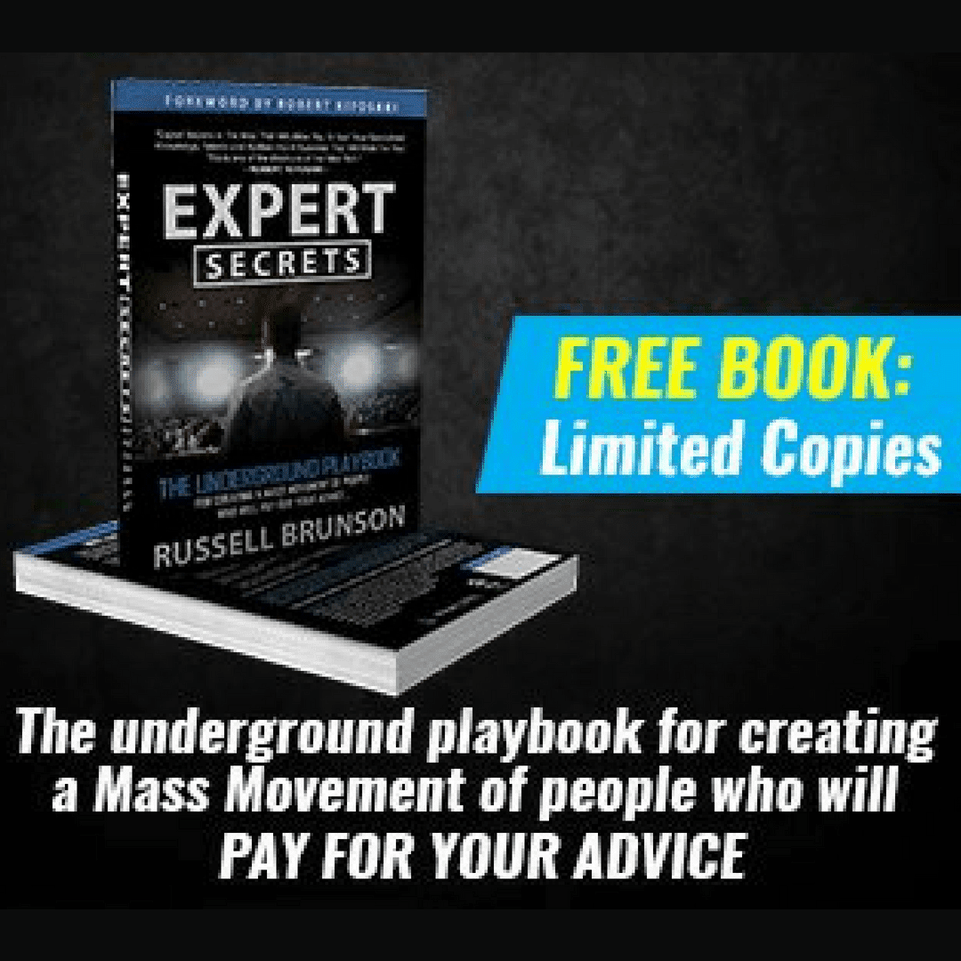 Free Expert Secrets Book by Russel Brunson