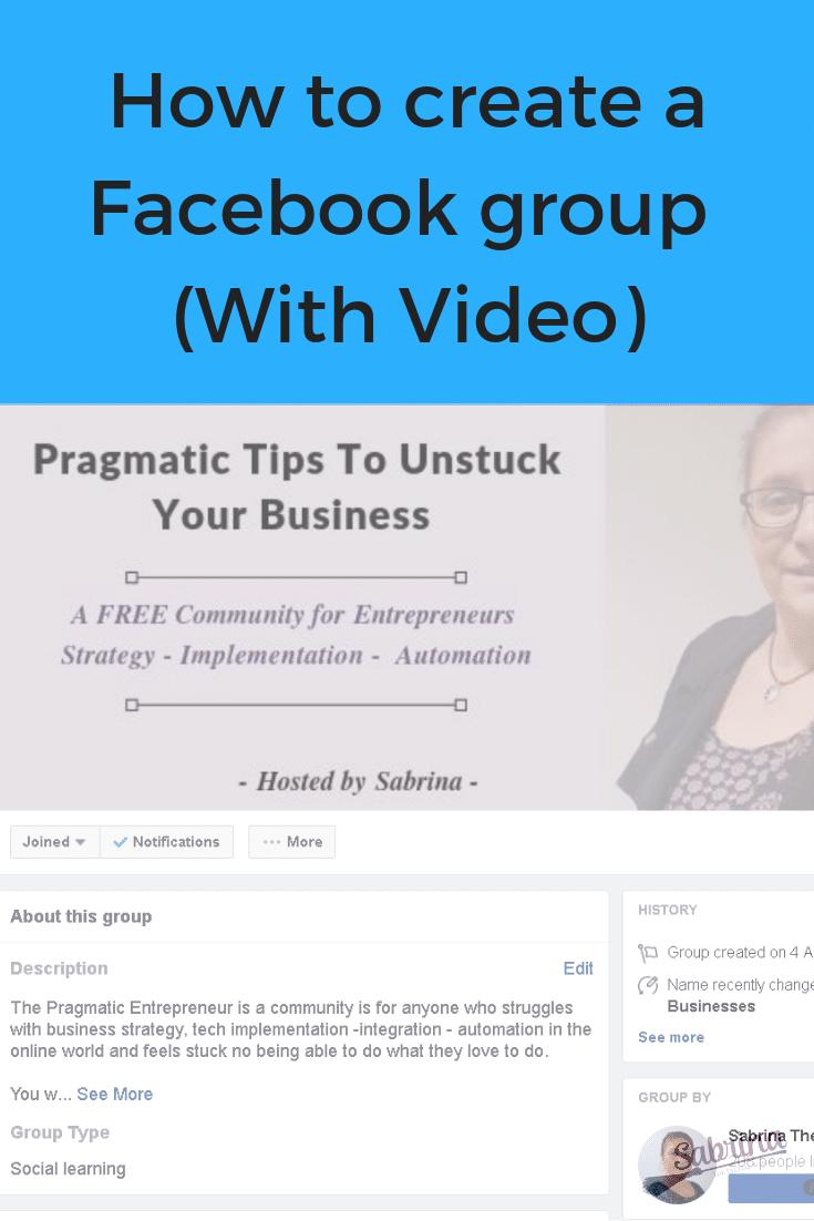 How to create a Facebook group (video walkthrough)