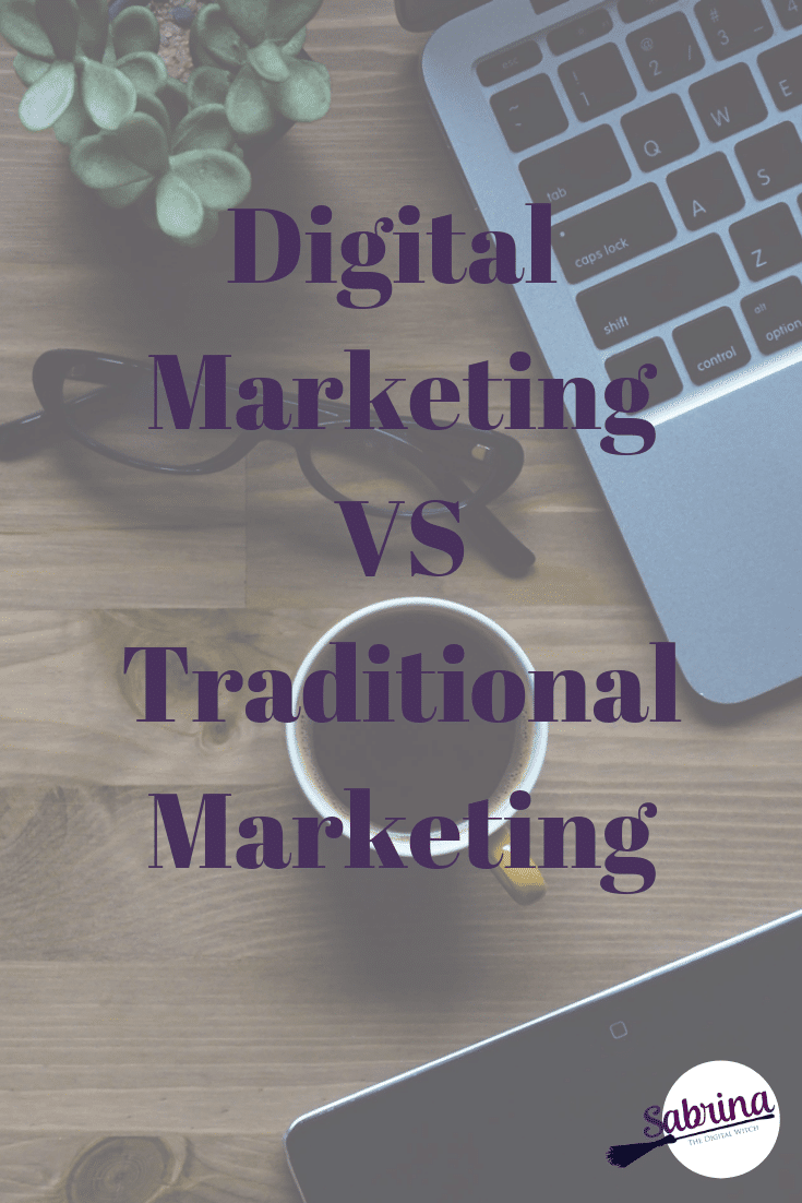 Digital Makreting vs Traditional - Pinterest post