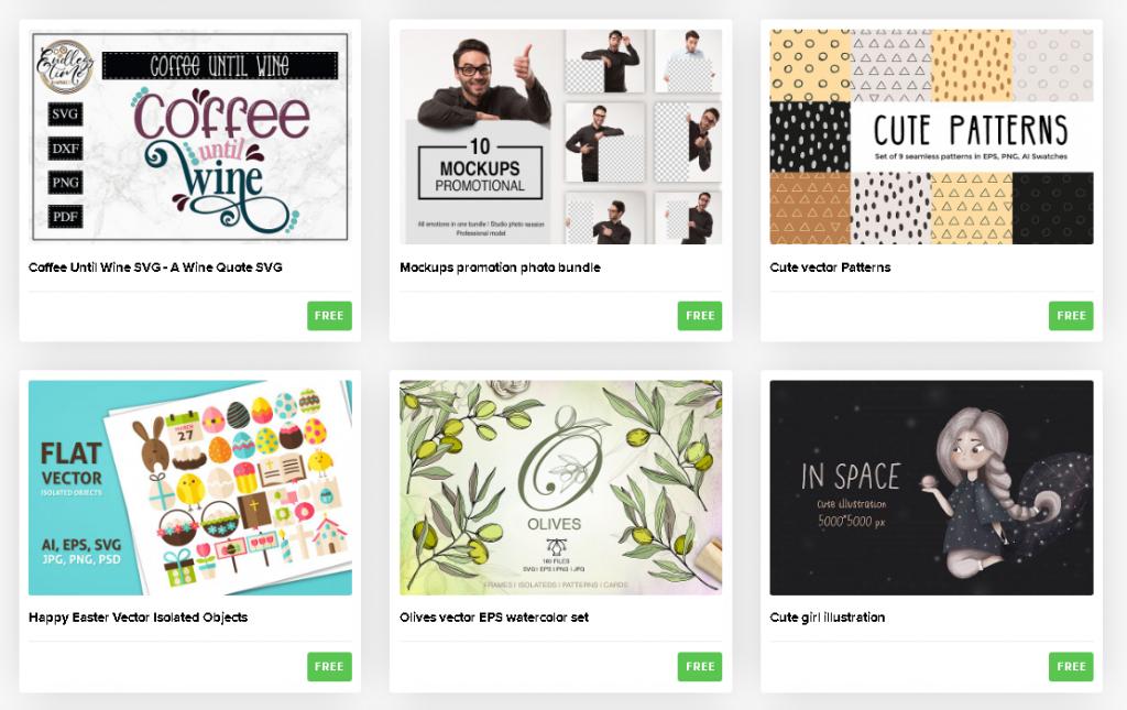 Design Bundles Site - premium goodies