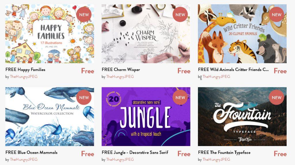 The Hungry jpeg - free goodies