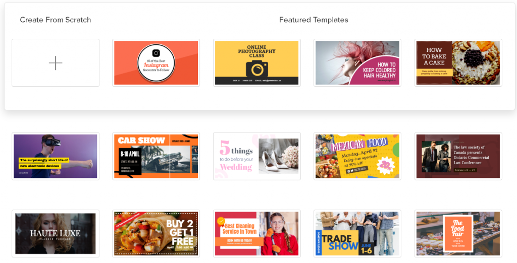 Snappa - templates examples
