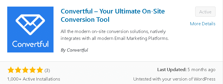 WordPress plugin Convertful