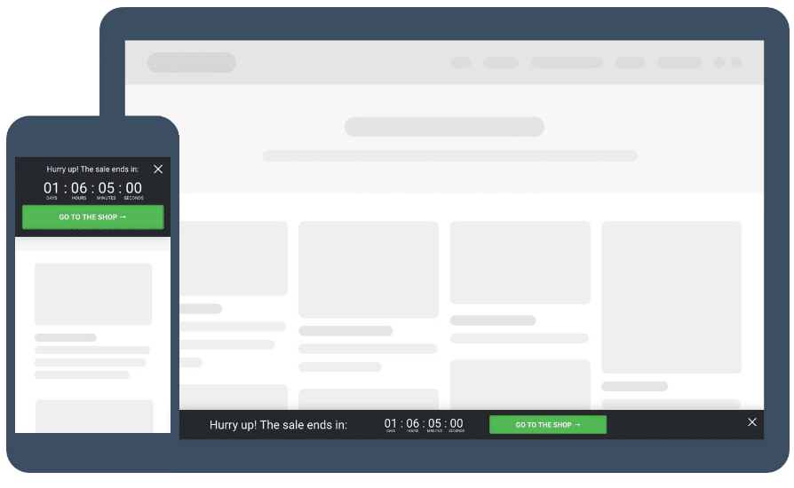 Deadline footer Widget