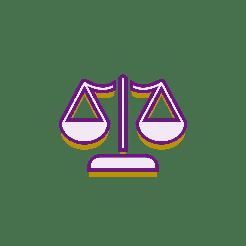 Balance gold and purple icon