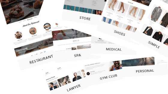 Multiple website layouts