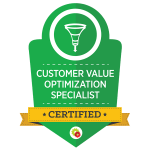 Certified Customer Value Optimization Specialist badge