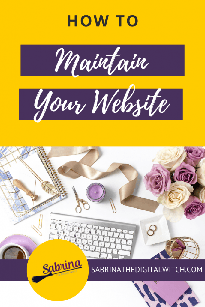 Website Maintenance 1 - Pinterest post