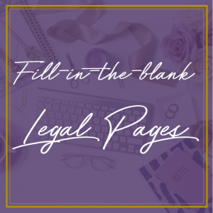 Fill in the blank legal page offer