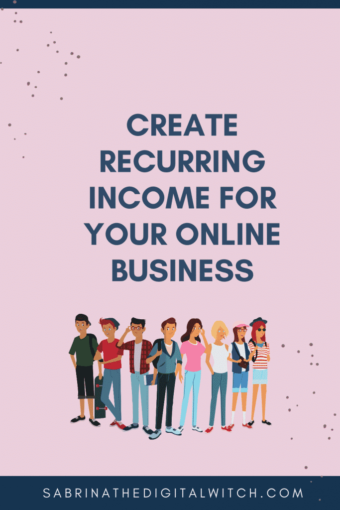 How ot create a membership for recurring income