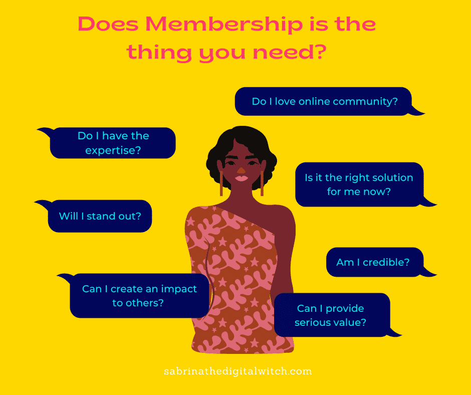 Does a membership is the best business model for me?