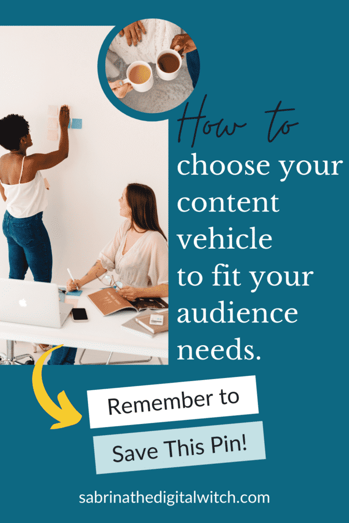 Good content needs the right vehicle to deliver the goods
