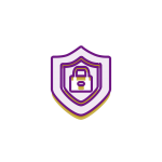 Security icon purple and gold